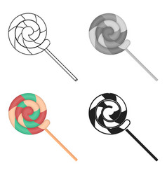 Lollipop icon in cartoon style isolated on white vector