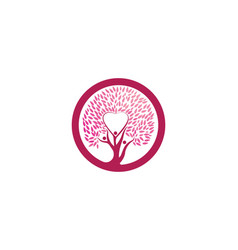 love tree logo template vector image