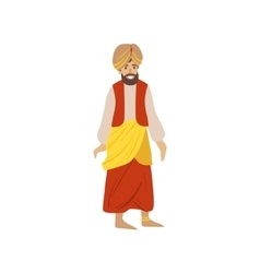 Man Wearing National Indian Costume vector image