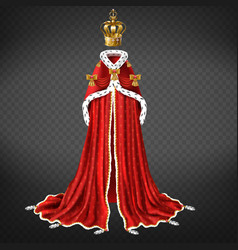 Medieval monarch ceremonial cloth realistic vector