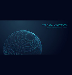 Music abstract background blue data technology vector