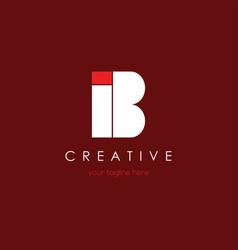 New i b letter logo vector