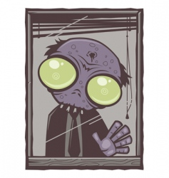 Office zombie cartoon vector