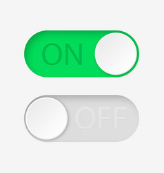 On and off toggle switch buttons vector