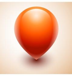 Orange map location pointer icon vector