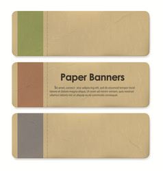 paper banner tags set sale discount badges and vector image