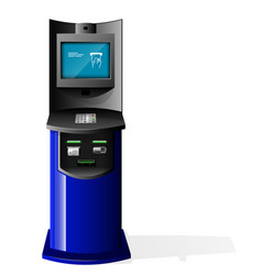 Payment terminal automated teller machine vector