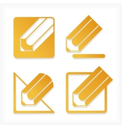 Pencil icons set vector image