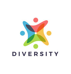 people family diversity colorful overlap vector image