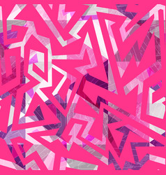 Pink color geometric seamless pattern vector