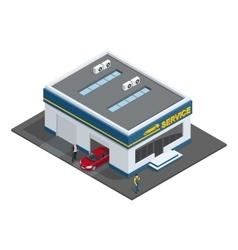 Repair garage Auto mechanic service maintenance vector