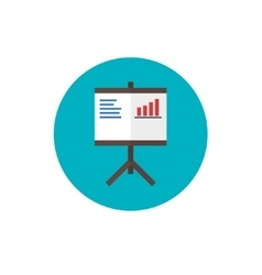 Screen Report sign pictogram Flip Chart Icon vector