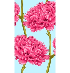 seamless background with pink carnation vector image
