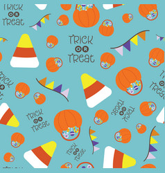seamless pattern for halloween festival vector image