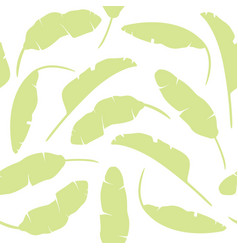 set of tropical leaves banana leaves isolated vector image