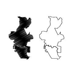 Shah alam city malaysia selangor state map vector