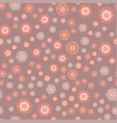 summer seamless pattern - flowers in a circle vector image