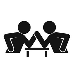 Table arm wrestling icon simple style vector