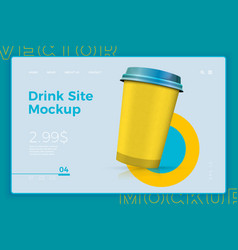 takeout coffee cup isolated site template vector image