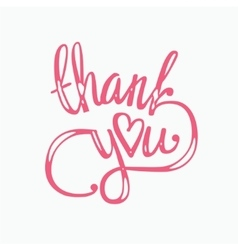 Thank you hand lettering - handmade calligraphy vector