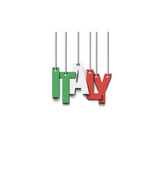 The word italy hang on the ropes vector