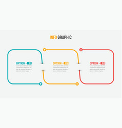 thin line infographic design with 3 options vector image