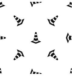 traffic cone pattern seamless black vector image
