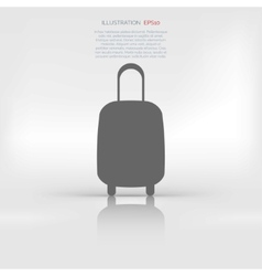 Traveling bag icon vector