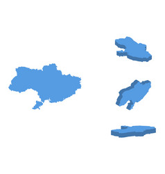 ukraine isometric map country isolated on a vector image