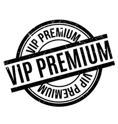 vip premium rubber stamp vector image