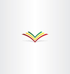 colorful book logo sign element vector image