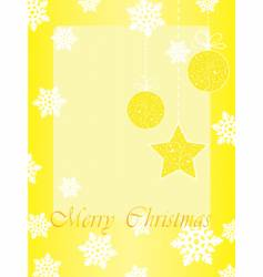 gold christmas card with baubles vector image