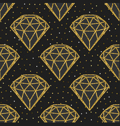 seamless pattern of geometric golden foil diamonds vector image vector image