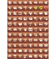 activities icons vector image vector image