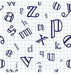 Alphabet Seamless Background vector image vector image
