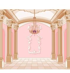 Ballroom of magic castle vector