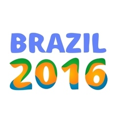 Brazil 2016 games poster vector image