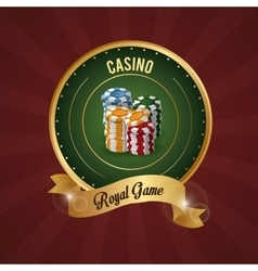 Casino design Game icon Colorfull vector image