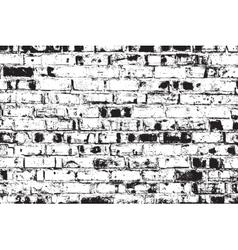 Distressed Brick Wall vector image vector image