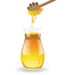 Honey on white background vector image vector image