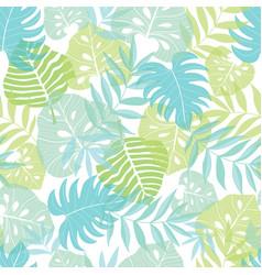 light tropical leaves summer hawaiian vector image