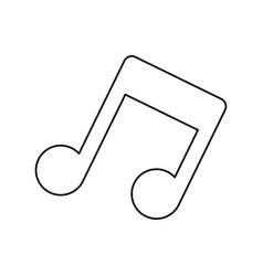Music note symbol vector