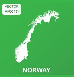 Norway map icon business concept norway pictogram vector