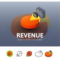 Revenue icon in different style vector