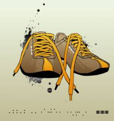 sneakers gym-shoes vector image vector image