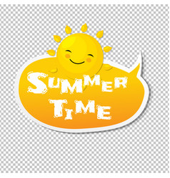 summer time speech bubble vector image vector image