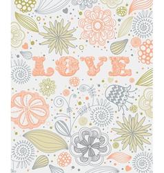 Vintage Floral Love Pattern vector image vector image