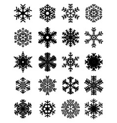 different black snowflakes vector image vector image