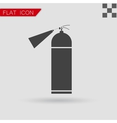fire extinguisher icon isolated Flat Style vector image vector image