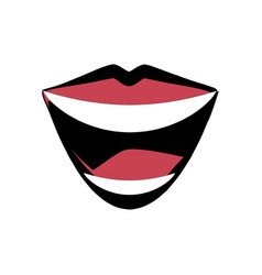 mouth lips comic image vector image
